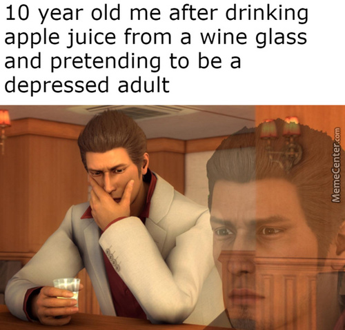 Depressed Kiryu