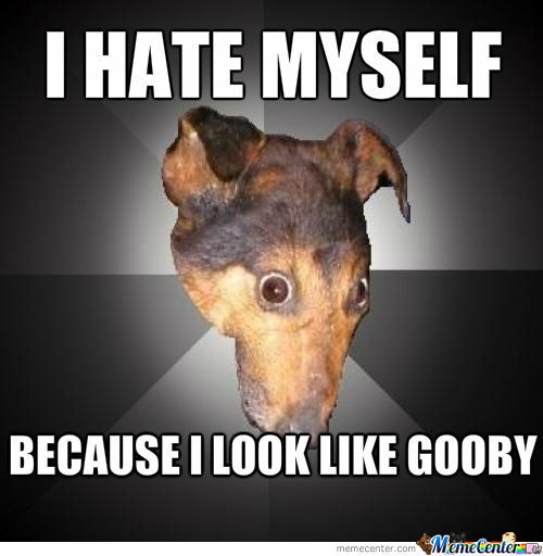 Depression Dog Looks Like Gooby