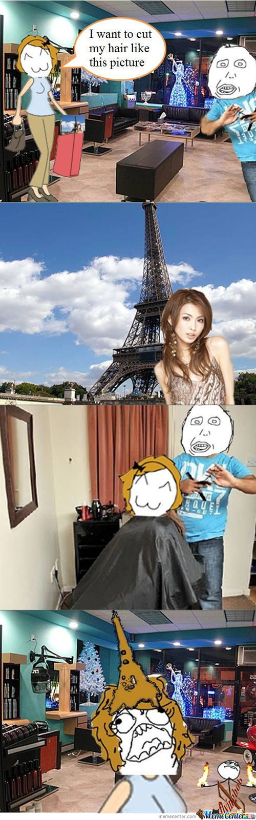 Derpina's Hair Cut - Eiffel Tower