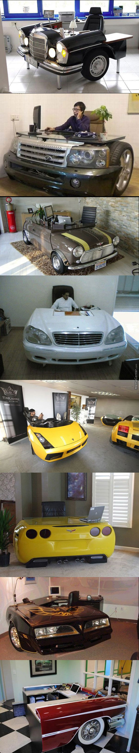 Desks Made From Real Cars