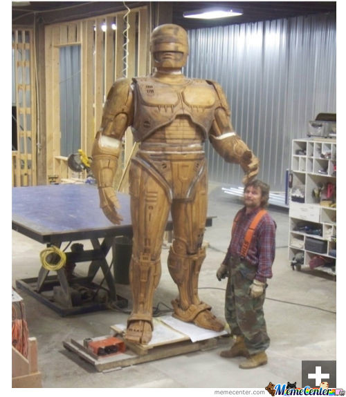 Detroit's 10 Foot Robocop Statue Is Almost Finished.