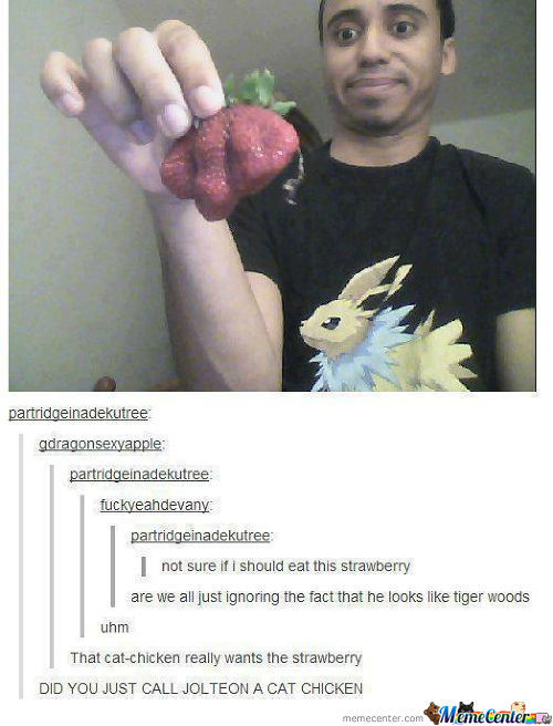 Did You Just Call Jolteon A Cat Chicken?