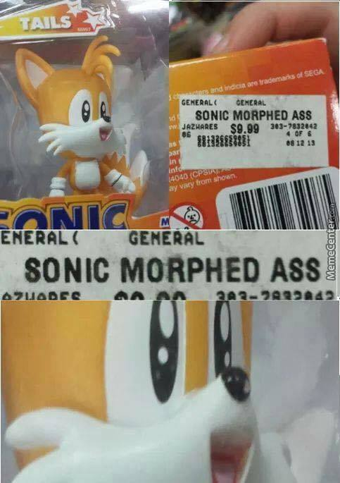 Didn't Know Tails Was Just Sonic's Morphed Ass