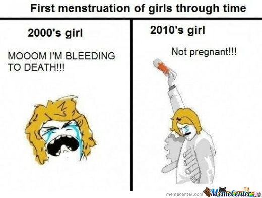 Difference Between Periods These Days, Just Sad. :p