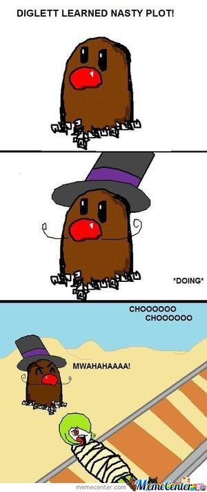 Diglett Used Nasty Plot!