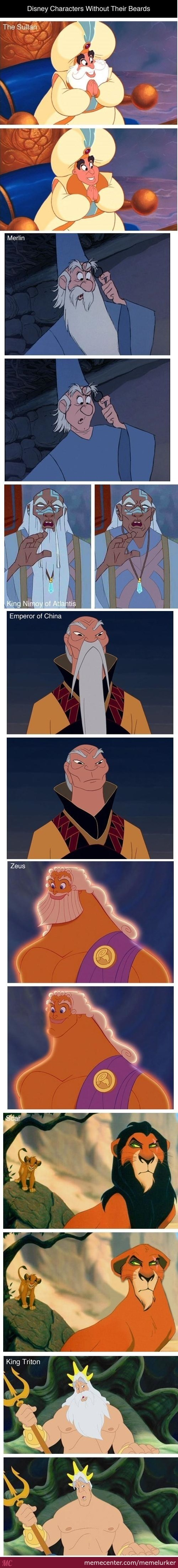 Disney Character Without Beards