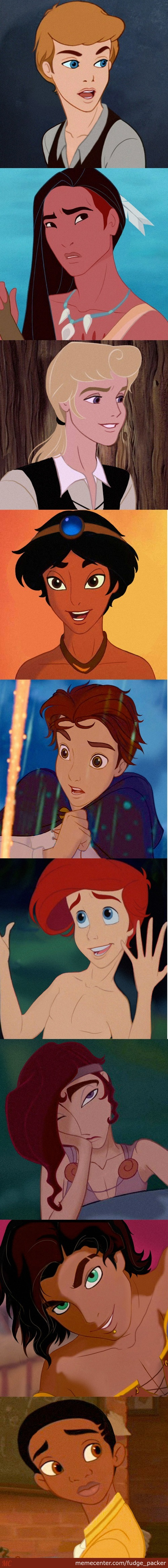 Disney Princes... Where's Your Futa Now!