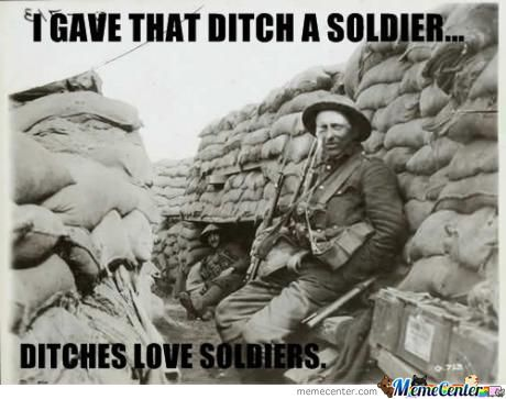 Ditches Love Soldiers