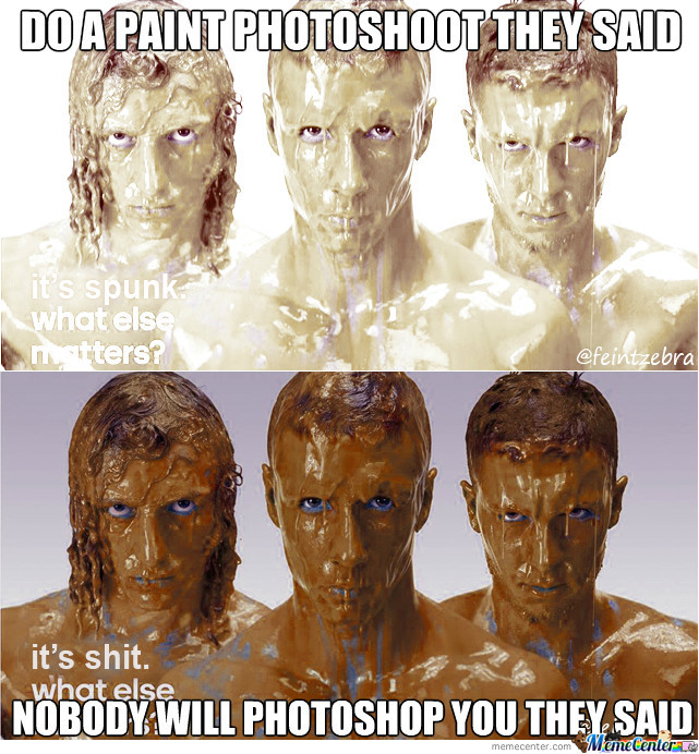 Do A Paint Photoshoot They Said...