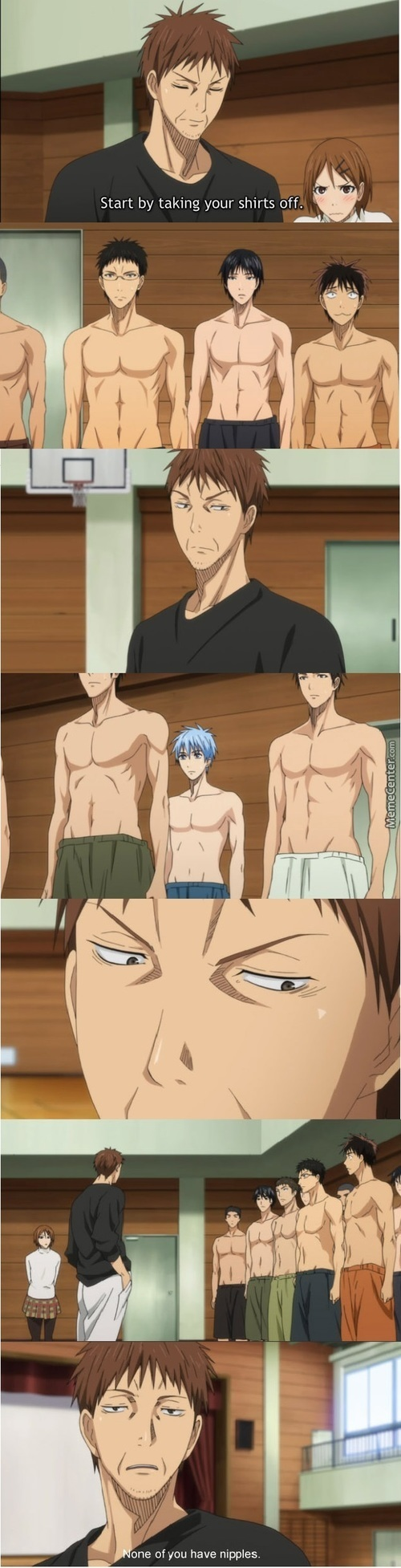 Do You Think The Girl In The First Frame Cares About That? I Don't Think So. (Anime:  Kuroko No Basket)