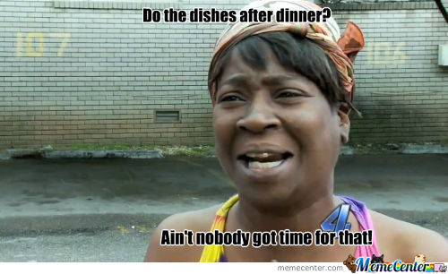 Doing Dishes After Dinner