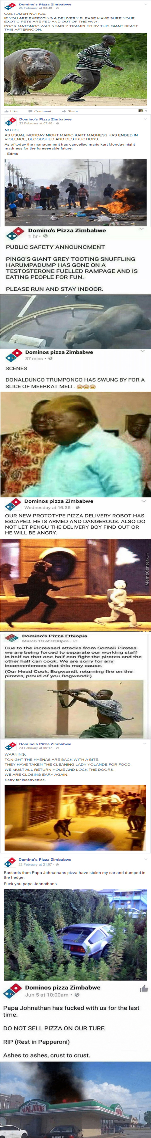 Domino's Zimbabwe Does Not Fuck Around