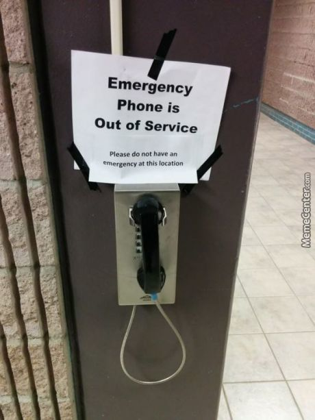 Don't Get An Emergency, It's That Simple