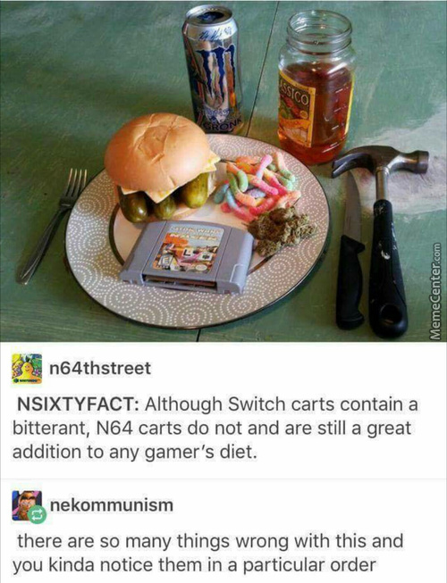 Don't Lick The Switch Cartridges...