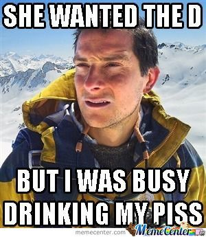 Don't Worry Bear Grylls, I'll Take Care Of Her
