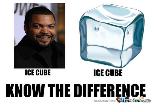 Don´t Know If Ice Cube Has Balls Or Ice Cube... And If You Kick Him Does Ice Cube Have Crashed Ice?