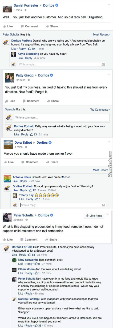 Doritos Created Rainbow Chips To Support Lgbt Youths And Some People On Facebook Got Mad, Then Doritos Forhelp Showed Up