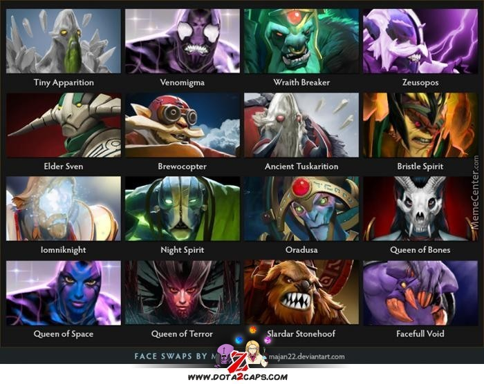 Funny Meme Character : Dota funny face swap heroes by dota player meme center