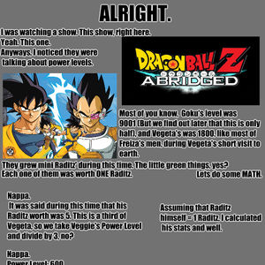 dragonball z abridged power levels are all wrong by pwu1 meme center