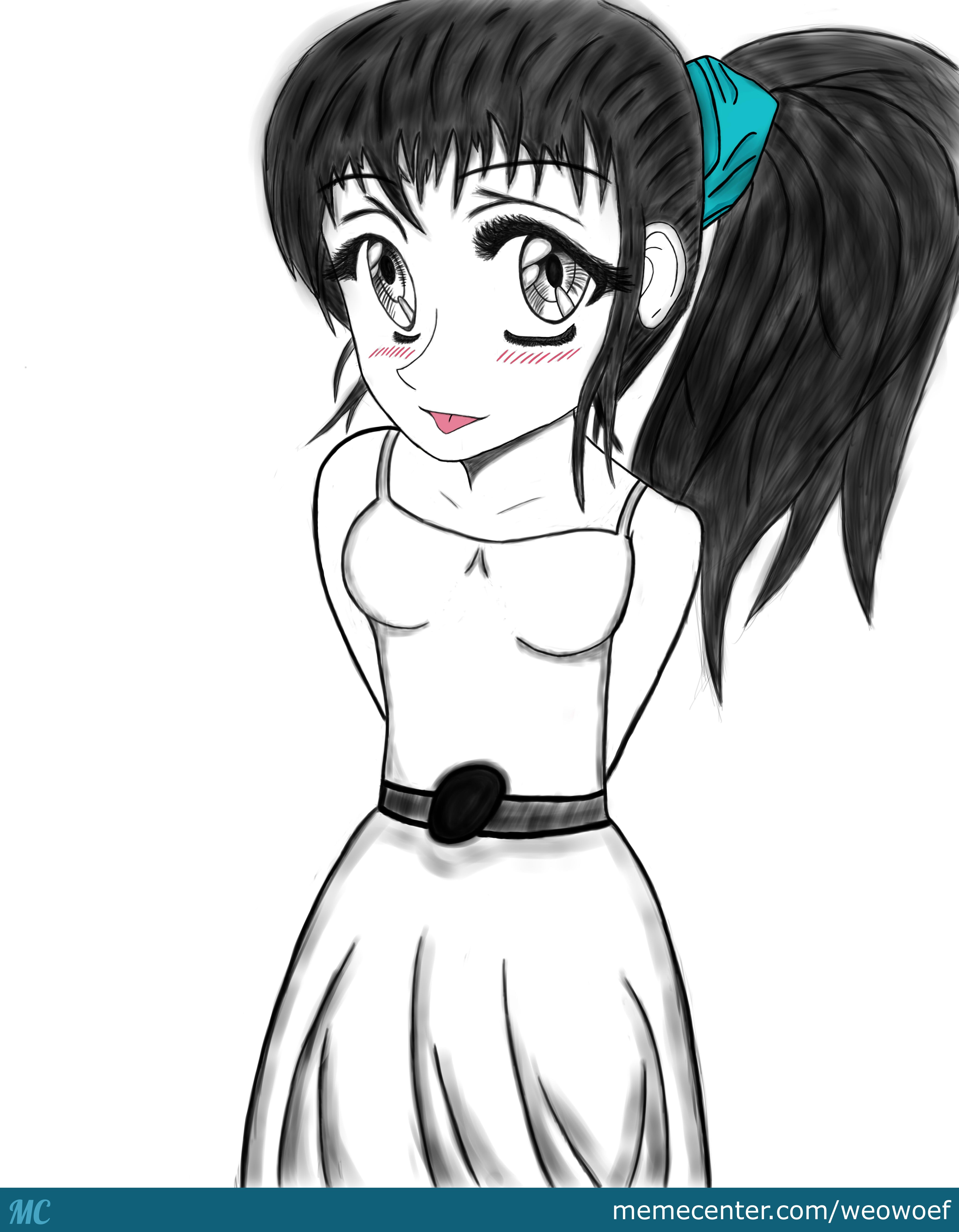 Drawing A Manga Girl First Try. Credits To Markcrilley On