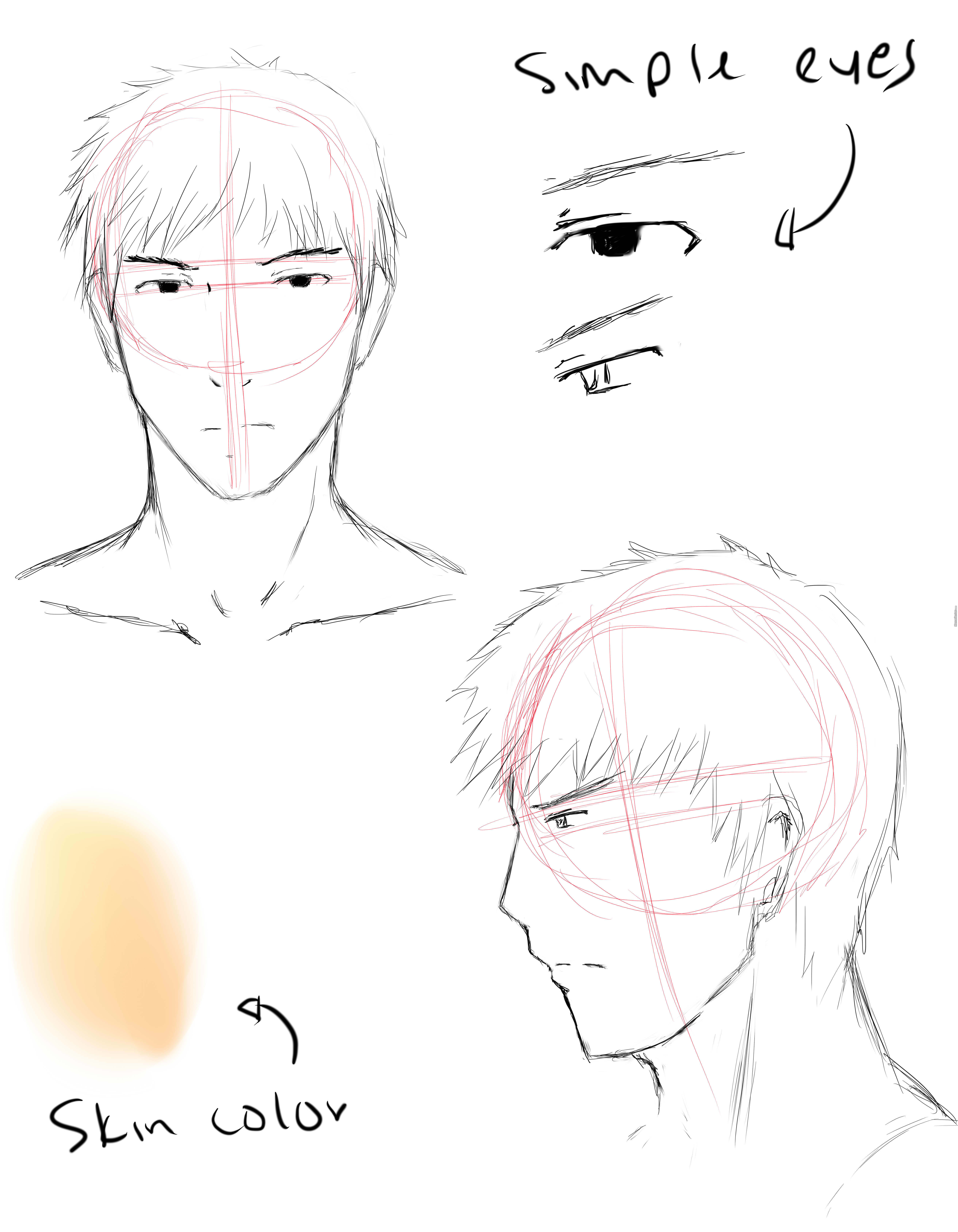 drawing reference 1 male face by souijinn meme center