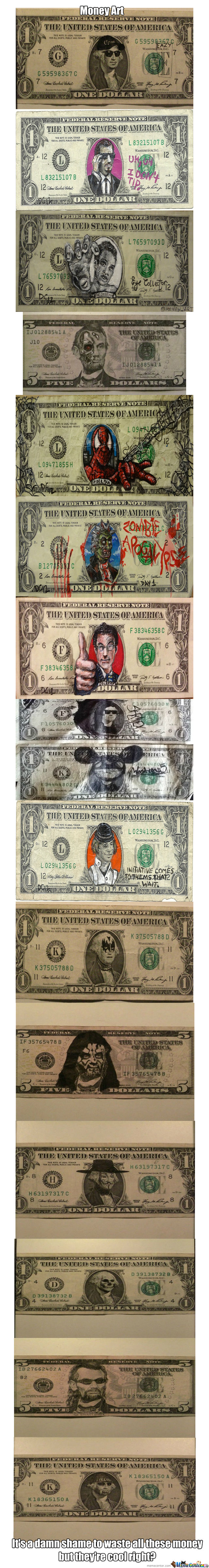 Drawings On Money