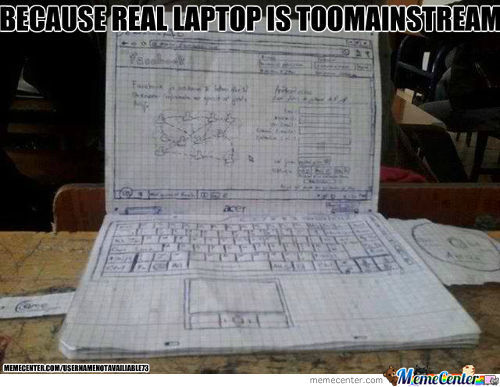 Drawn Laptop At Its Finest