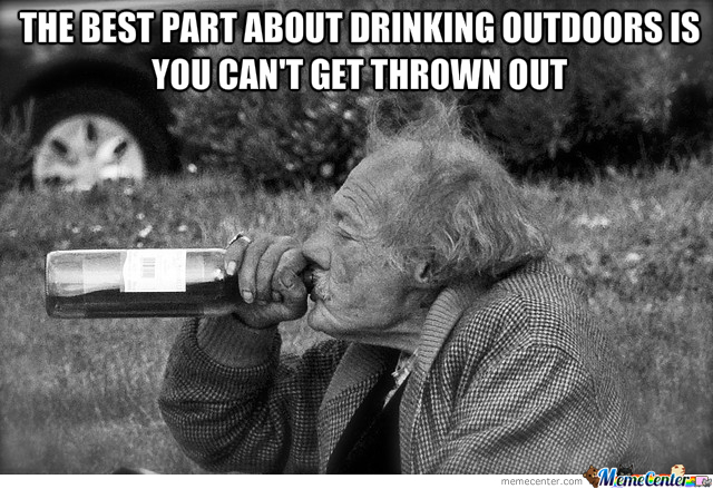 Drinking Outdoors