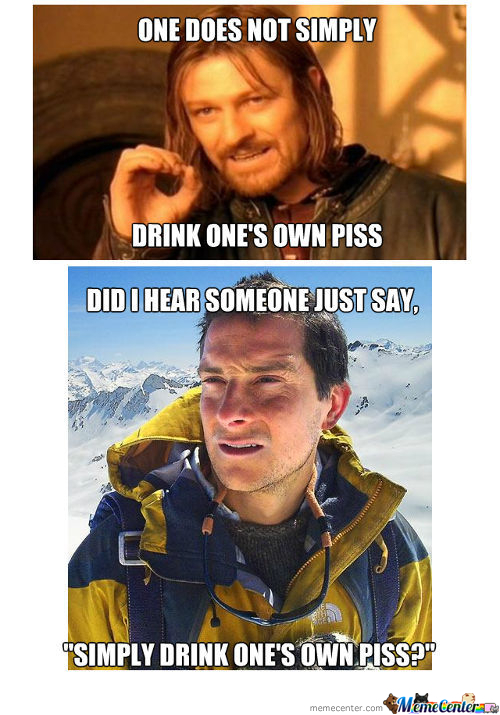 Drinking Piss Like Bears Grylls