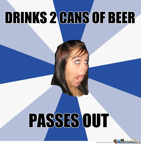 Drinks 2 Cans Of Beer