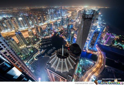 Dubai City At Night.:)