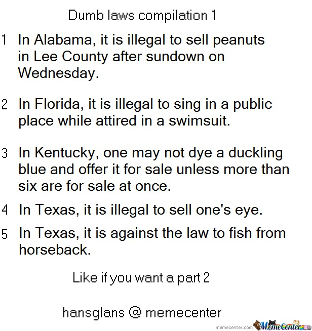 Dumb laws alabama