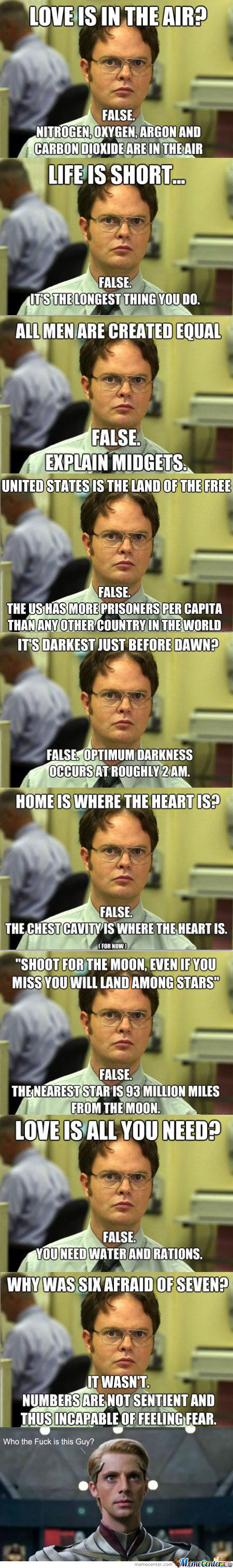 Dwight Schrute Knows Best