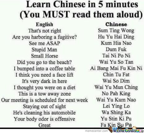 Easy Chinesse Lesson