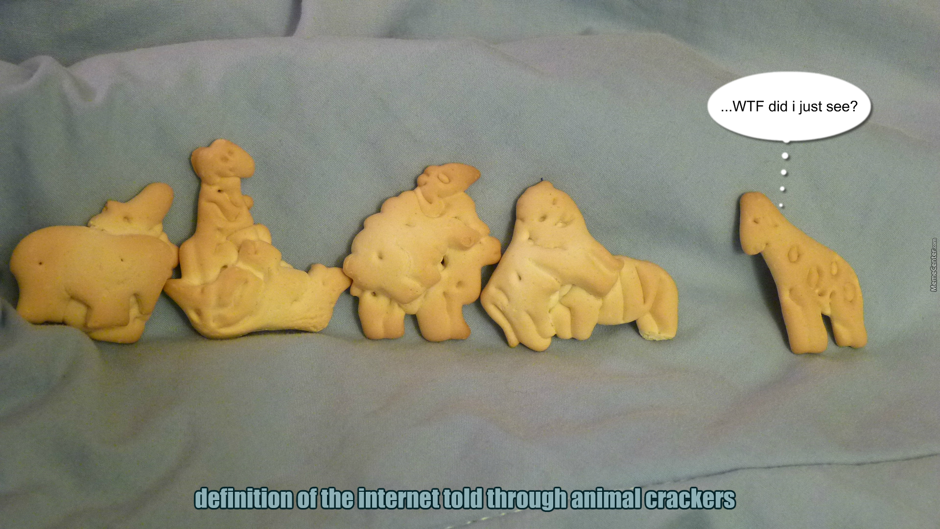eating animal crackers if you know what i am_o_3819137 eating animal crackers if you know what i am by shramorama