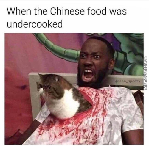 Eating Chinese Is Risky Business.