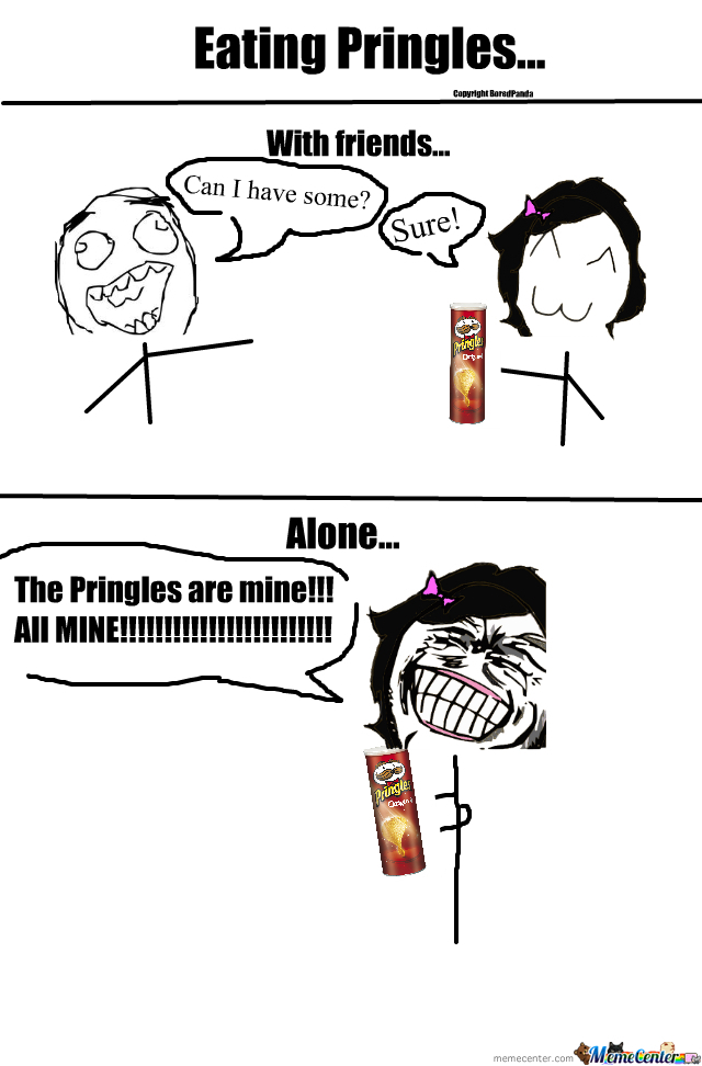 eating pringles_o_279553 eating pringles by boredpanda meme center,Pringles Meme