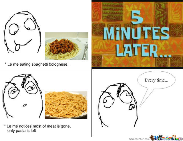 Eating Spaghetti Bolognese By Recyclebin Meme Center