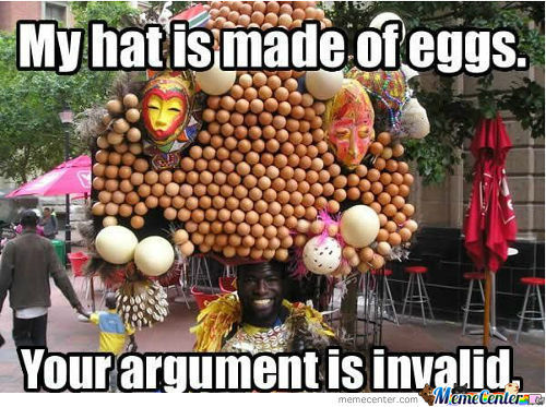My hat is made of eggs.