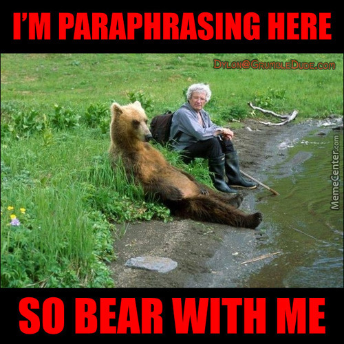 Em-Bear-Assed To Be Seen With You...