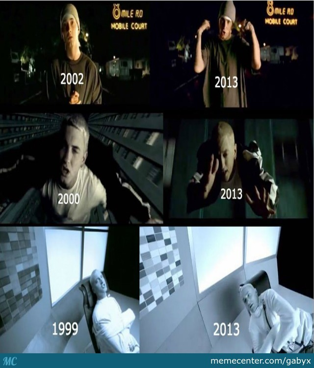 Eminem Then And Now By Gabyx Meme Center