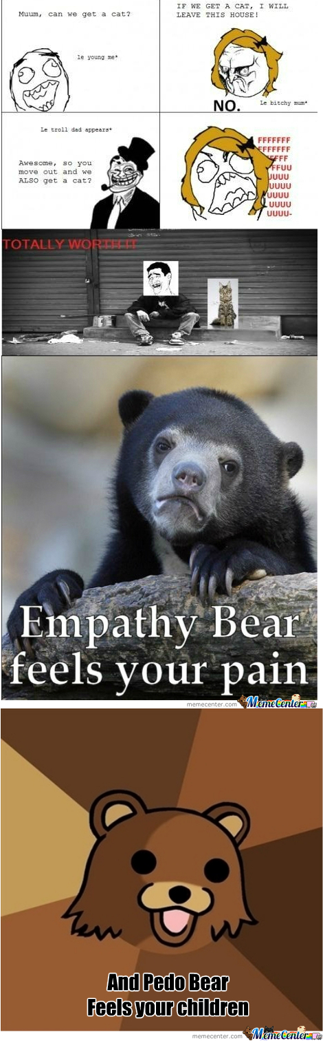 Empathy Bear? No... Pedo Bear