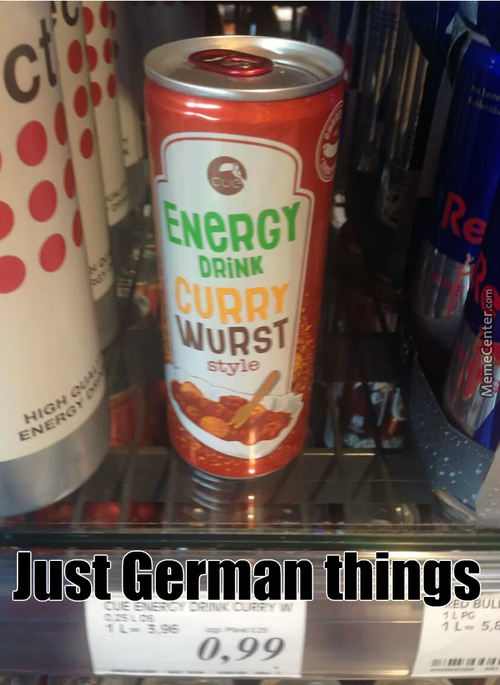 Energy Drink Curry Wurst Style, Germany Never Disappoints