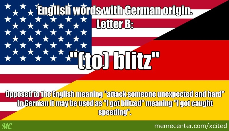 Englisgh Words With German Origin. Today: Letter B by recyclebin
