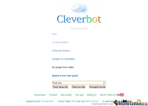 Epic Cleverbot Is Epic... Wait... Wtf Is Wrong With You!!!!!