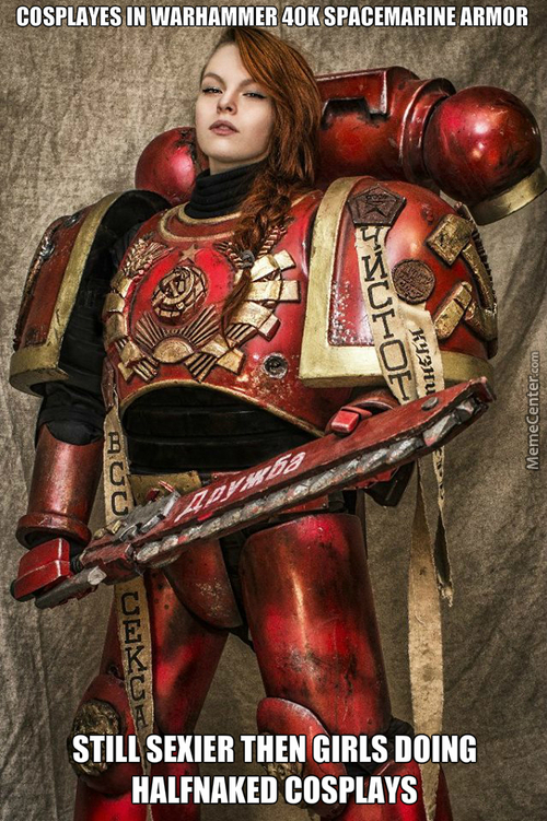 Epic Russian Warhammer 40K Cosplay