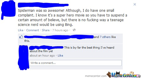 Epic Spiderman Comment Is Epic