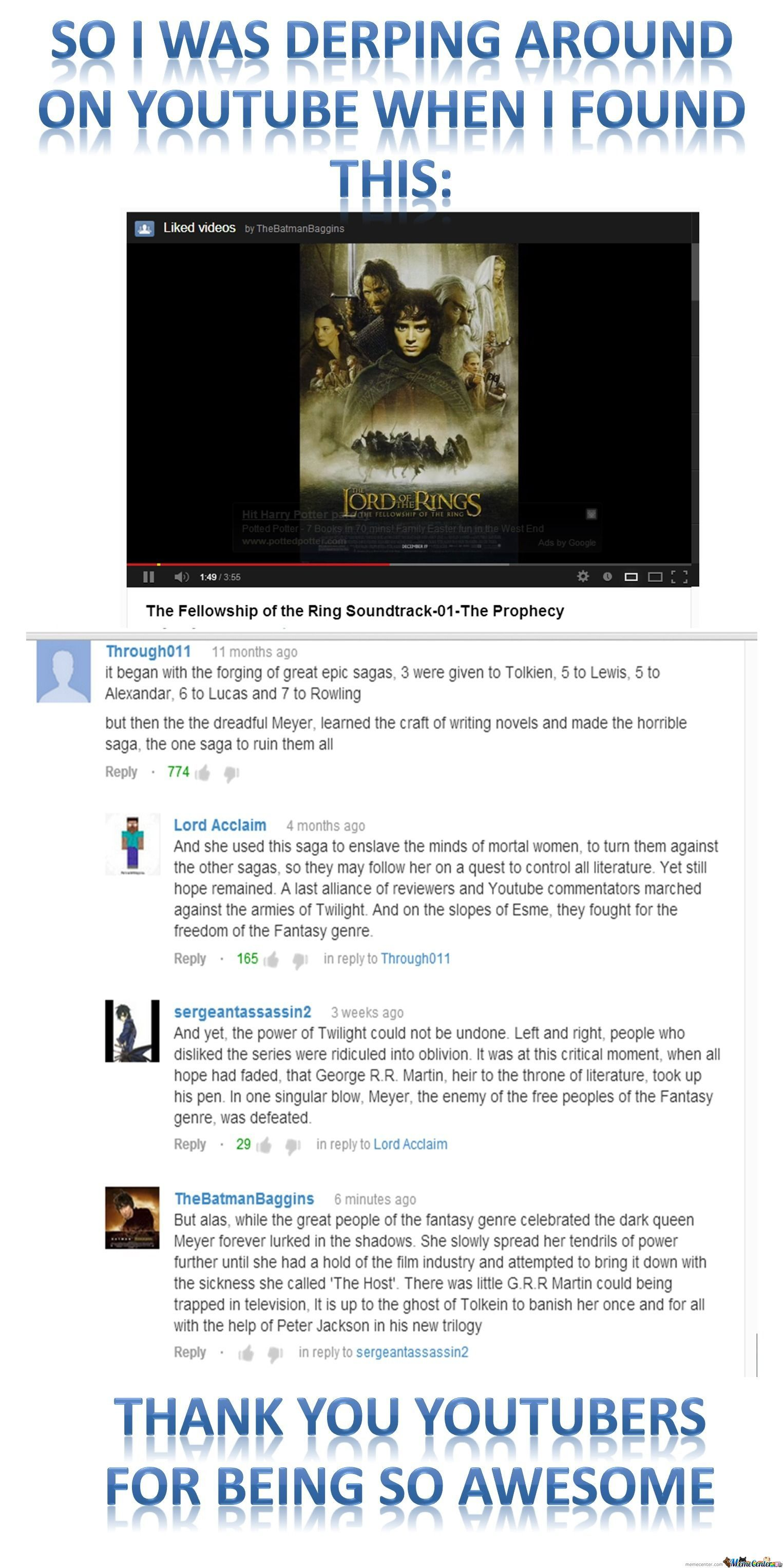 Epic Youtube Comment By Elson: Epic Youtube Stream By Tyrionlannister