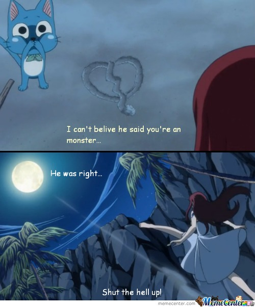 Erza In A Bad Mood