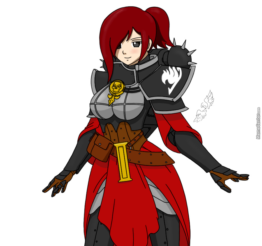 Erza With Sob Armor Doodle